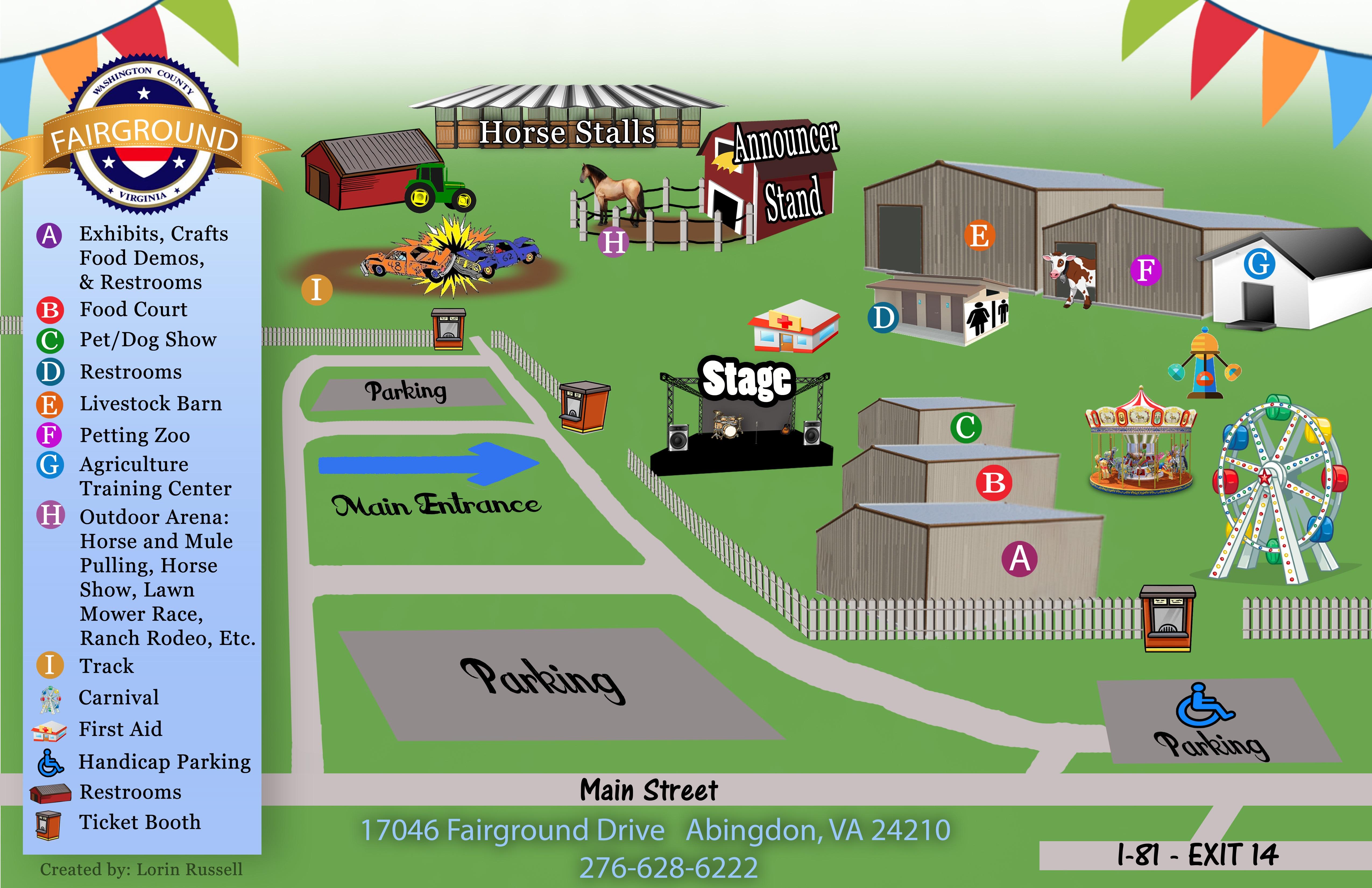 Location County Fair Grounds Washington County Virginia